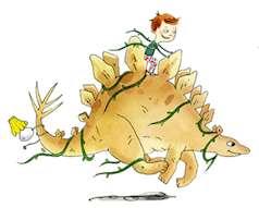 Omslagsbild på Ivar träffar en stegosaurus