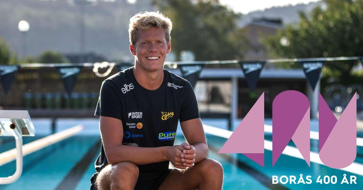 Adam Paulsson - landslagssimmare i simklubben Elfsborg